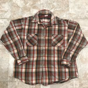 Vintage Jc Penny Big Mac Heavy Flannel 60's Plaid